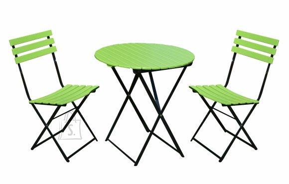 Aiamööbli komplekt Flip laud ja kaks tooli