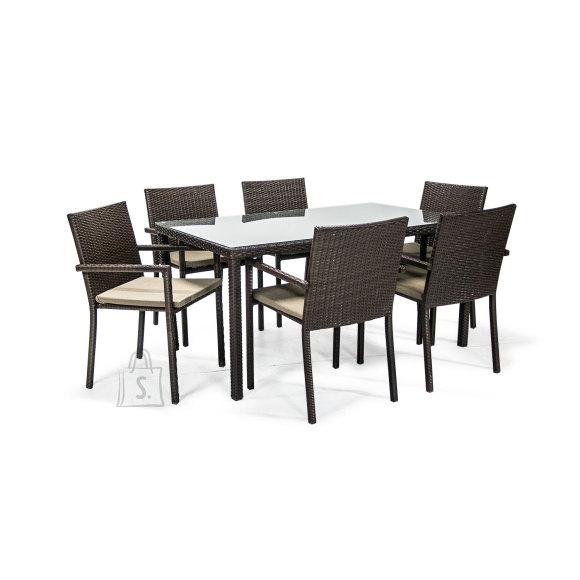 Garden4you Aiamööbli komplekt Basic laud ja 6 tooli