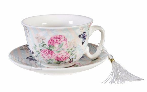 Teetass alustaldrikuga Teatime roos