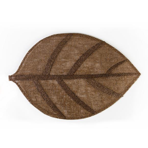 Lauamatt Leaf 45 x 30 cm pruun