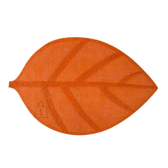 Lauamatt Leaf 45 x 30 cm oranz