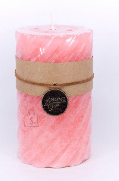 Küünal Spiro roosa 12 cm