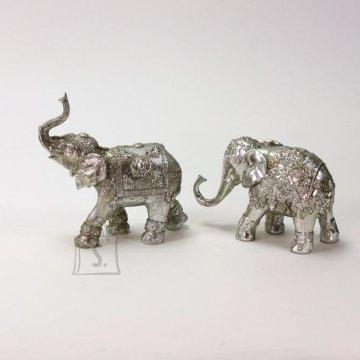 Dekoratiivkuju Elevant hõbedane 18,5 cm