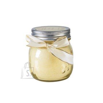 Klaaspurk küünlaga Mini Jarra valge