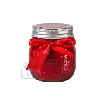 Klaaspurk küünlaga Mini Jarra punane