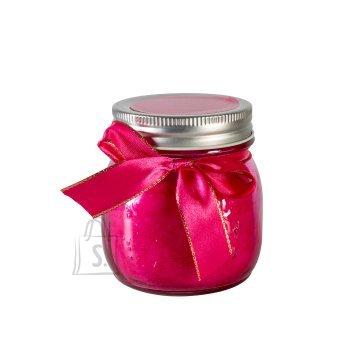 Klaaspurk küünlaga Mini Jarra roosa