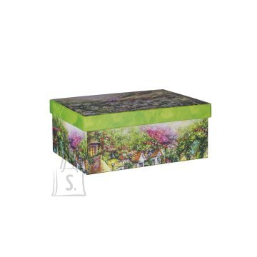 Pappkarp Glitter House 8 23x16.5x9.5 cm