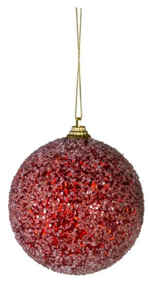 Jõuluehe punane Jääkuul Ø9 cm