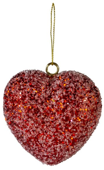 Jõuluehe punane Jääsüda Ø9 cm