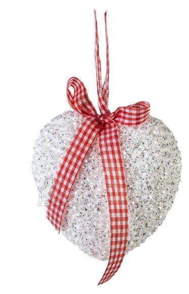 Jõuluehe valge süda Ø9 cm