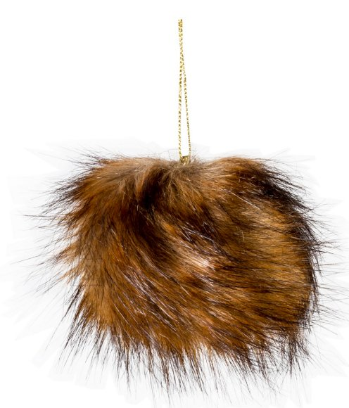 Dekoratsioon Fur Goldbrown Ø12 cm