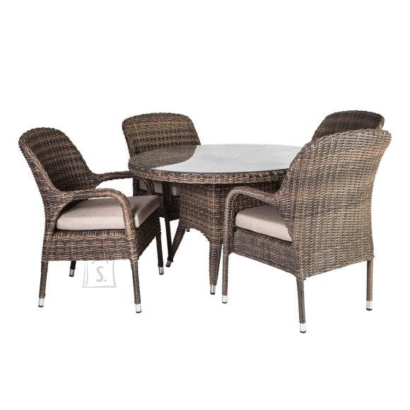 Aiamööbli komplekt Loreto laud + 4 tooli