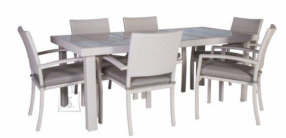 Aiamööbli komplekt Stella laud + 6 tooli
