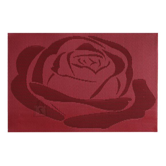 Lauamatt Textiline punane roos