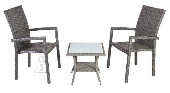 Aiamööblikomplekt Austin laud + kaks tooli
