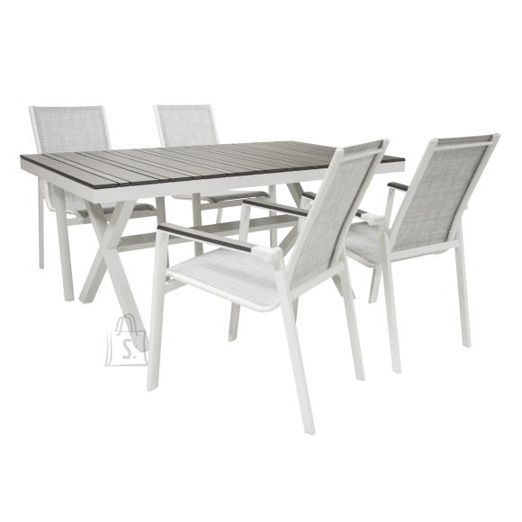 Aiamööblikomplekt Avon aialaud + 4 tooli
