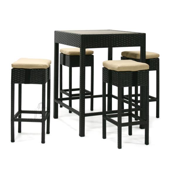 Baarikomplekt Stella laud + 4 pukki