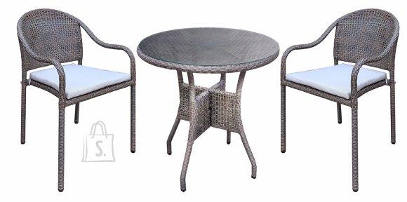 Aiamööbli komplekt Sunsera laud + 2 tooli