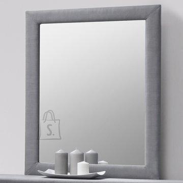 Peegel CAREN, kangaga kaetud raam, hall