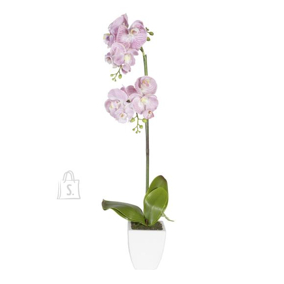 Roosa kunstlill orhidee 1 topelt oksaga 75cm