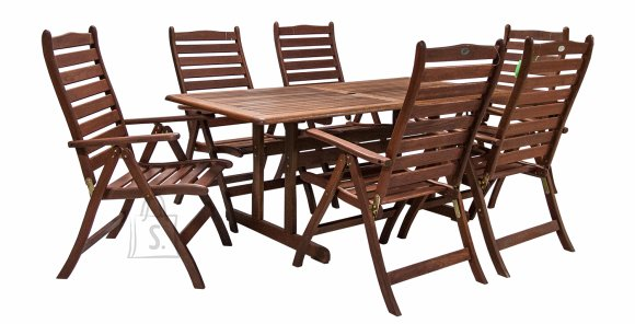 Aiamööblikomplekt Venice laud ja 6 tooli