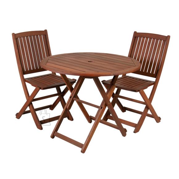 Aiamööbli komplekt Nantes laud ja 2 tooli