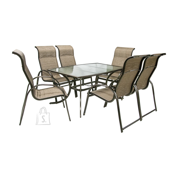Komplekt MONTREAL laud ja 6-tooli