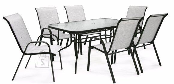 Aiamööbel Dublin laud ja 6 tooli
