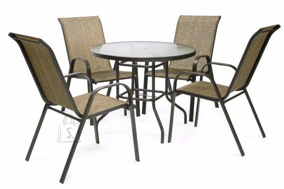 Aiamööbel Dublin laud ja 4 tooli