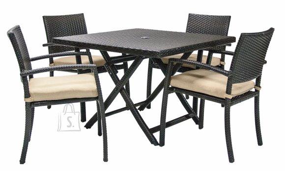 Aiamööblikomplekt Stella laud ja 4 tooli