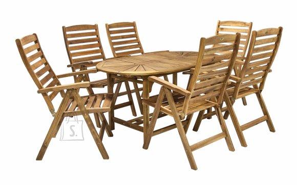 Aiamööblikomplekt Finlay laud ja 6 tooli