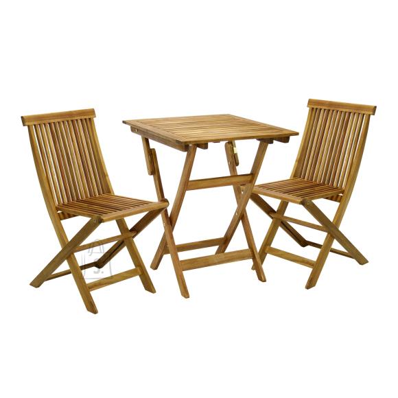 Aiamööblikomplekt Finlay laud ja 2 tooli