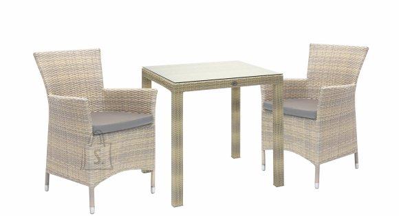 Aiamööblikomplekt Wicker laud ja 2 tooli