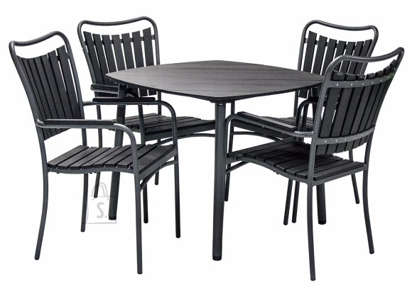 Aiamööblikomplekt Sestino laud ja 4 tooli