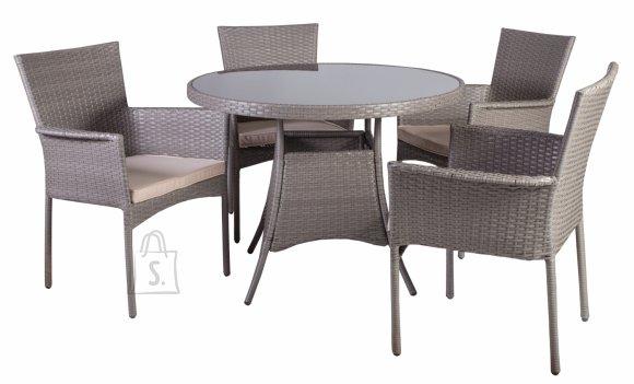Aiamööblikomplekt Hampton laud ja 4 tooli