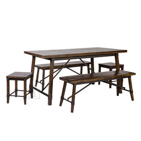 Söögilauakomplekt Opus laud + 2-pinki + 2-tabureti