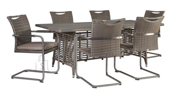 Aiamööblikomplekt Zenica laud ja 6 tooli