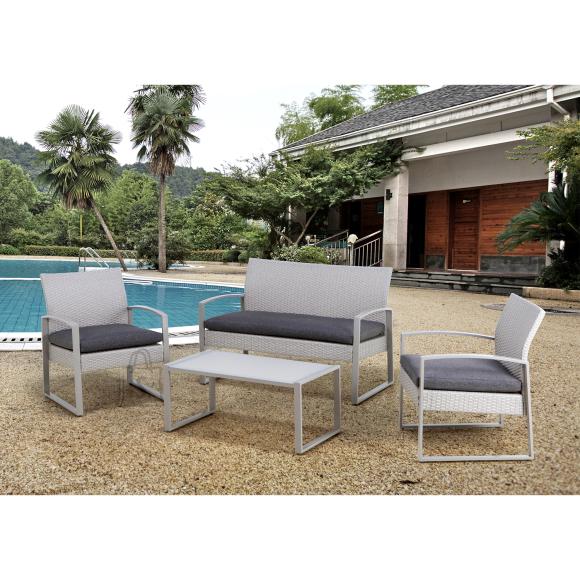 Garden4you Komplekt VICTORIA laud, pink ja 2 tooli