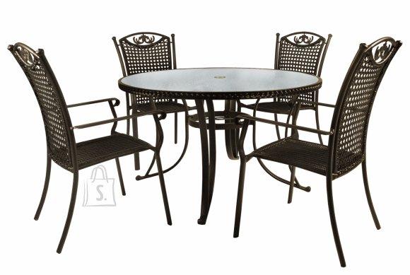 Aiamööbli komplekt Freya laud + 4-tooli