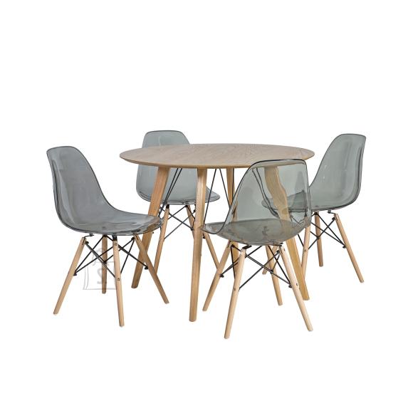 Söögilauakomplekt Helena 4-tooliga Smoky