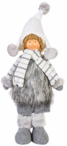 Jõulukuju poiss/tüdruk tutimütsi ja karvase kasukaga