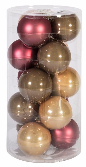 Jõuluehe klaaskuulid Luxo 15tk