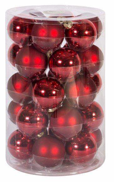 Jõuluehe klaaskuulid Luxo 30tk