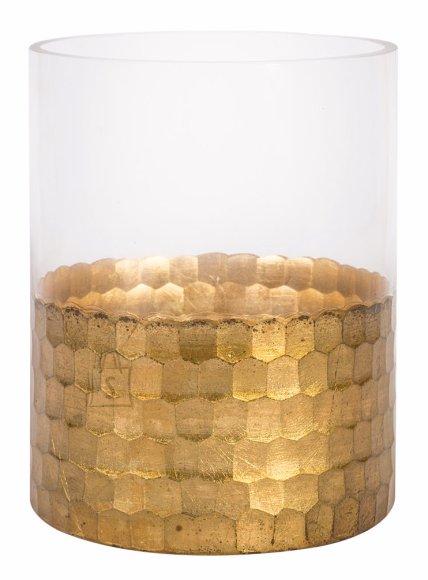 Kuldse äärega vaas Luxo