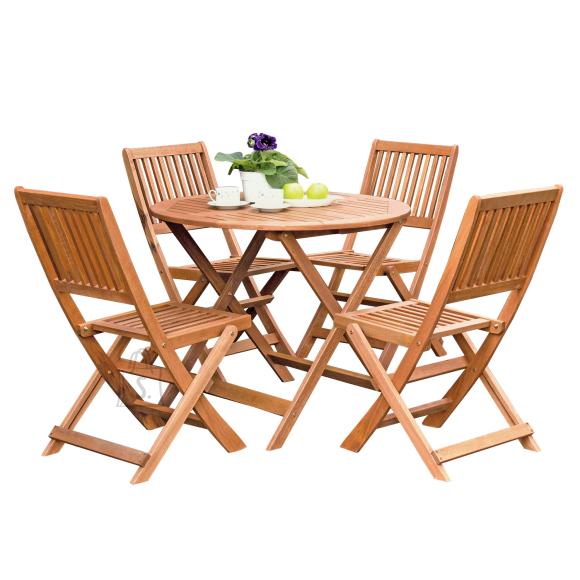 Aiamööblikomplekt Woody laud + 4-tooli
