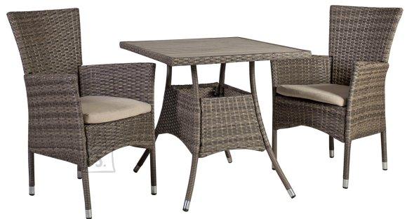 Aiamööblikomplekt Paloma laud ja 2 tooli.