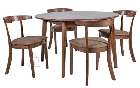 Söögilauakomplekt Adele laud + 4  kõrge seljatoega tooli
