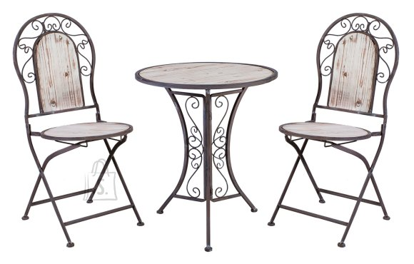 Aiamööbel Volta laud ja 2 tooli