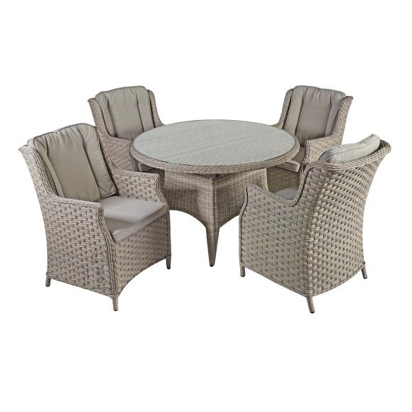 Aiamööblikomplekt Pacific  laud ja 4-tooli