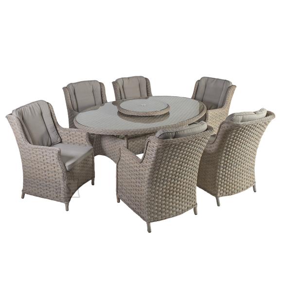 Aiamööblikomplekt Pacific laud ja 6-tooli